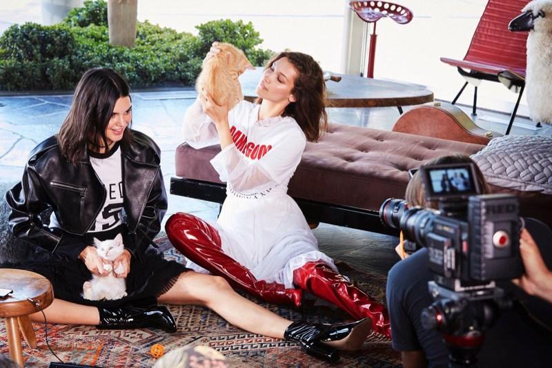 Kendall Jenner et Bella Hadid dans la nouvelle campagne pour Dsquared2